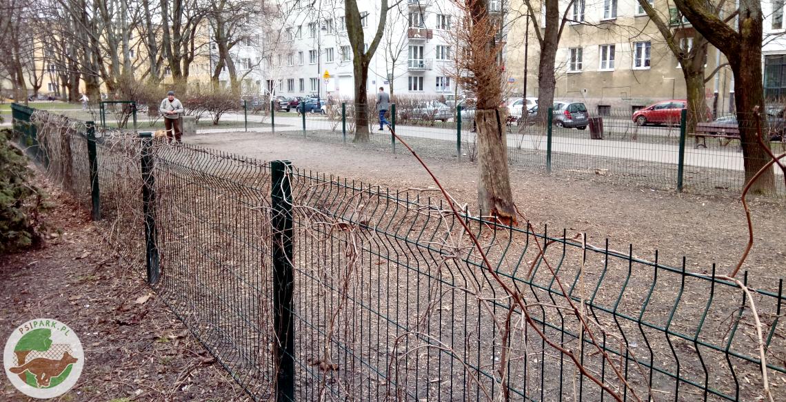 Wybieg dla psów Warszawa Skwer Słonimskiego Stary Mokotów