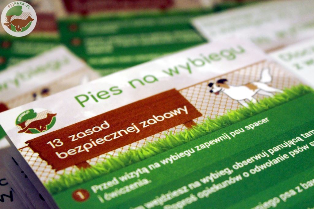 Zamów bezpłatne ulotki o bezpiecznej zabawie na wybiegu dla psów